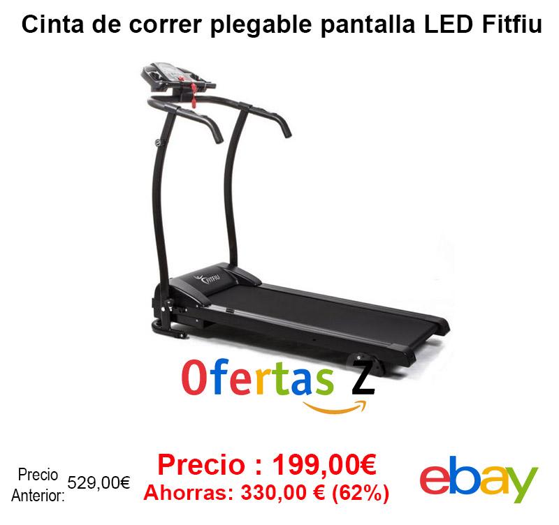 Oferta Cinta de correr plegable pantalla LED Fitfiu 1500w