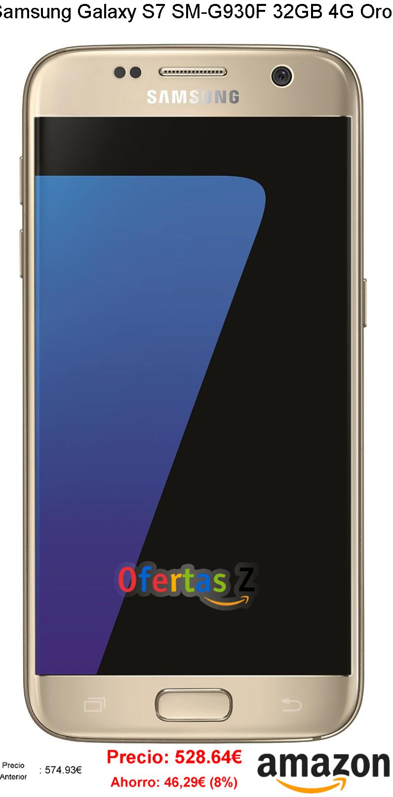 Samsung Galaxy S7 SM-G930F 32GB 4G Oro Amazon.es Electrónica