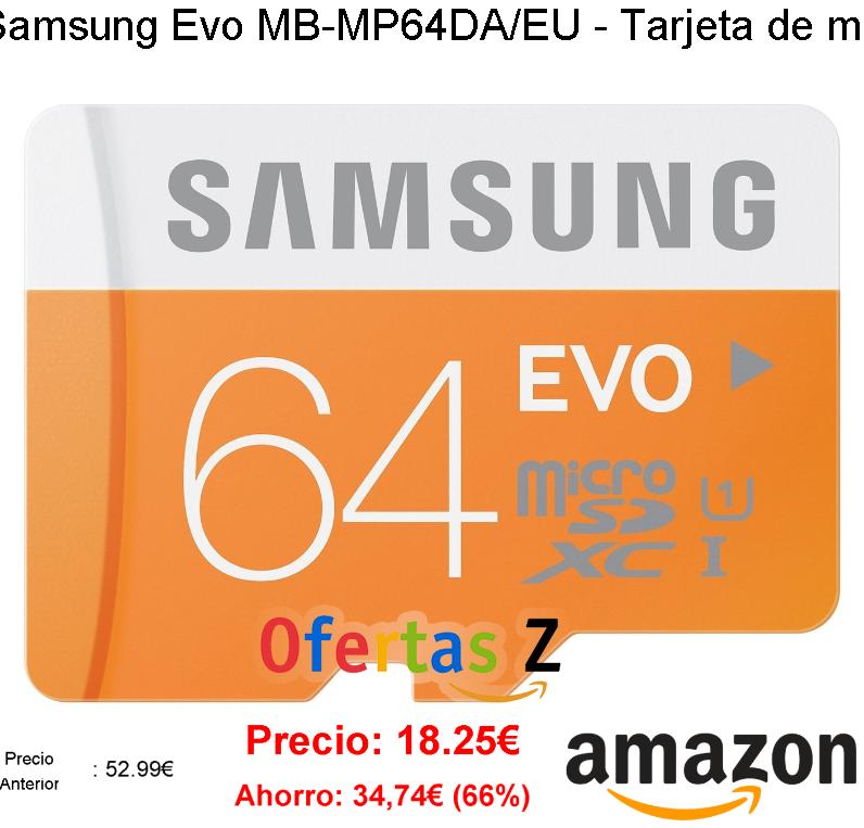 Tarjeta de memoria micro SDXC de 64 GB (UHS -I Grade 1, Clase 10, con adaptador SD) ASI Amazon.es Electrónica
